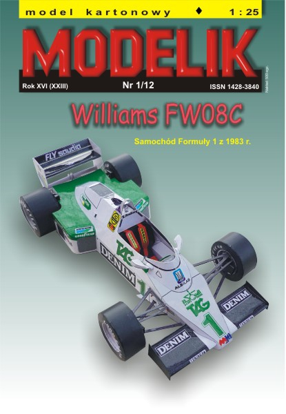 nr kat. 1201: Williams FW 08 C